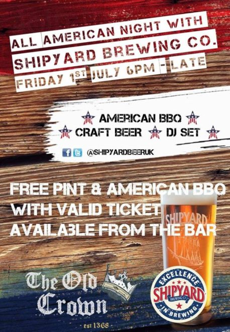 all american night at old crown birmingham