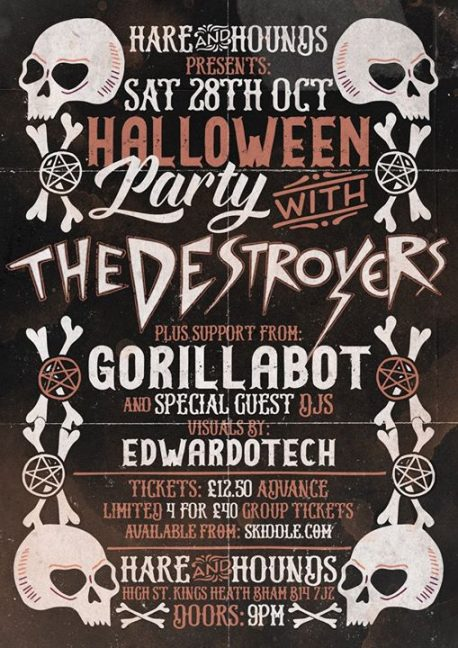 Destroyers Halloween party at The Hare and Hounds